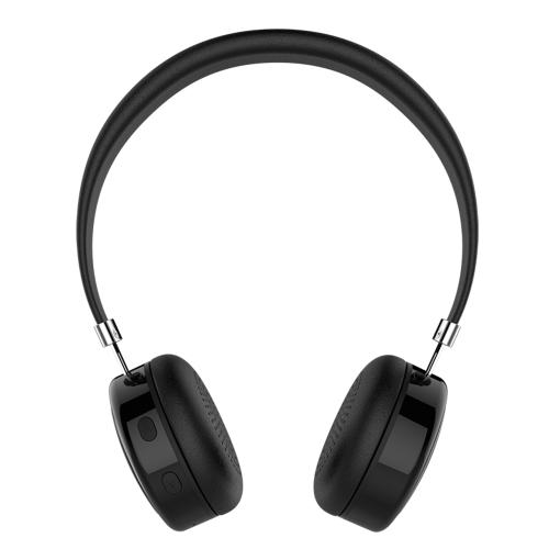 AEC BQ668 BT 4.1 casque stéréo sur casque d'oreille w / Mic et mains libres pour ordinateur portable Smartphone noir