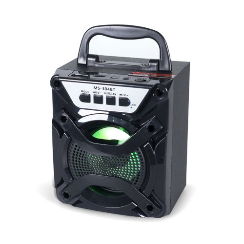 MS-304BT Alto-falante portátil sem fio BT 3.5mm Áudio FM Rádio Subwoofer Viva-voz com porta USB TF Card Slot