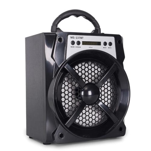 MS-137BT BT Wireless Speaker Music Player LED Light Digital Display Multimedia Mobile Speaker  Loudspeaker with AUX/USB/TF/FM Radio