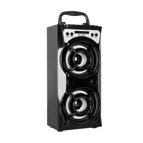 MS-144BT Wireless BT Speaker Мультимедиа Мобильный динамик Светодиодный свет Громкоговоритель Музыка Воспроизведение с USB / TF / AUX / FM-радио