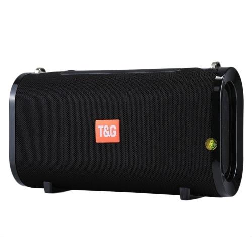 T&G Altavoces Bluetooth Caja de sonido estéreo portátil inalámbrica Altavoz dual de 5 vatios Radio FM Tarjeta TF AUX. EN U Disco Música Reproducción Micrófono incorporado Correa para el hombro