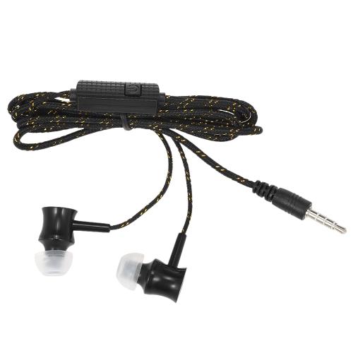 3.5mm Filaire Casque In-Ear Casque Stéréo Musique Smart Phone Écouteur Écouteur Contrôle En Ligne Mains-libres avec Microphone