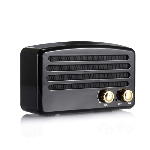 Portable Sans Fil BT Haut-Parleur Stéréo Musique Subwoofer Bouton Rétro Haut-Parleur Mains-libres FM TF Carte Ligne-dans