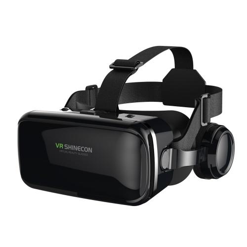 f75797e0f2b2 3D Cardboard Helmet with Adjustable Headphone Virtual Reality VR Glasses  Headset Receiver with Hi-Fi