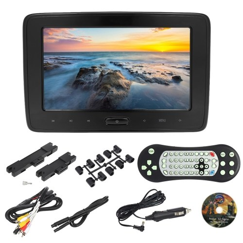 10 Inches Car Headrest DVD Player Auto Monitor 1024 * 600P Touch Button Support Game Disk HD Input AV Input SD Card Slot Headphone Output