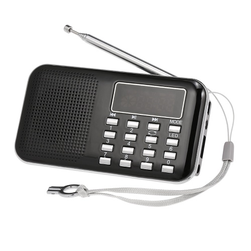 Y-896 Mini FM Radio Digital Portable 3W Stereo Speaker MP3 Audio Player