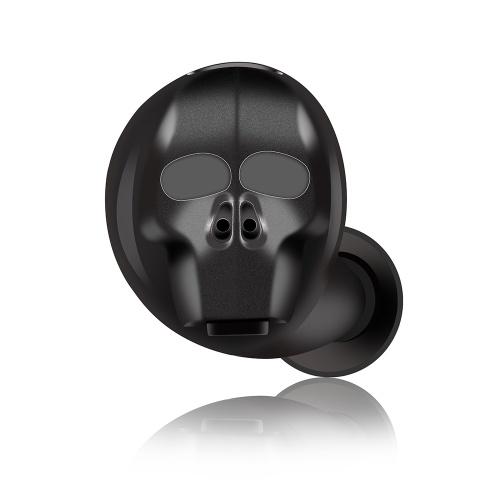 Forma de crânio SK-20 sem fio Bluetooth fone de ouvido intra-auricular
