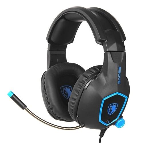 SADES SA-818 3,5 mm Wired Gaming Headsets Über Ohr Kopfhörer Noise Cancelling Kopfhörer mit Mikrofon Lautstärkeregler für Laptop PS4 Neue XBOX ONE Smart Phone