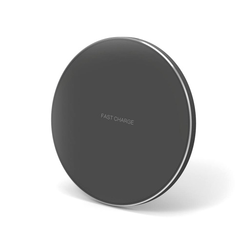 Portable Aluminum Alloy Ultra-thin Round Shape Qi Standard Wireless Charger