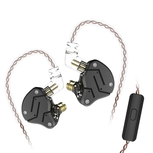 KZ ZSN 3.5mm Wired In Ear Cuffie HiFi in metallo con microfono
