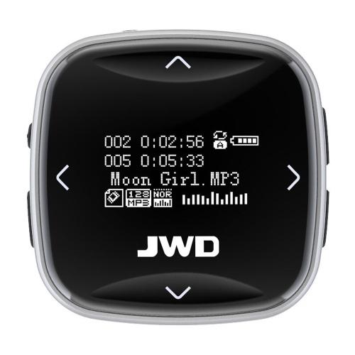 JWD JWM-101 8GBスポーツMP3プレーヤーポータブルオーディオプレーヤーFMラジオ音声録音Eブック0.96インチスクリーン付きヘッドホン