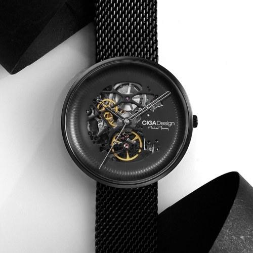 Xiaomi youpin CIGA Design MY Series Автоматические механические наручные часы с выдвижным вырезом Деловые мужские наручные часы с автоподзаводом Наручные часы 3ATM Водонепроницаемый металлический ремешок фото