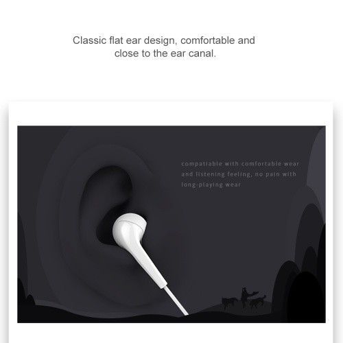 UiiSii U6 In-ear Stereo Earphone with Highly Sensitive Mic 3.5mm Plug Wired Headset For iPhone Xiaomi Android MP3