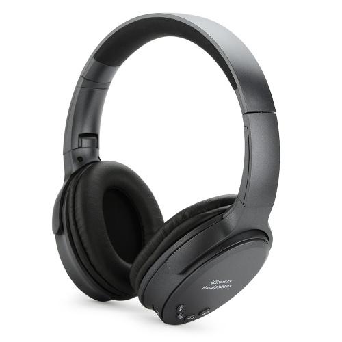 Bluetooth 5.0 On Ear Headphones with Mic Portable Foldable Headset Stereo Bass Earphones Adjustable Headband TF Card Slot AUX IN FM Radio