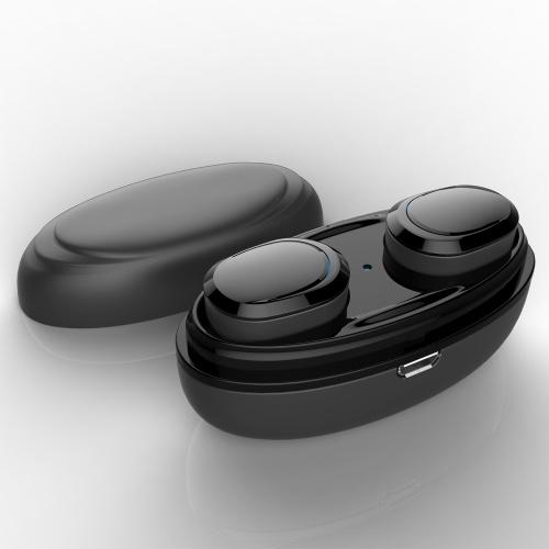 Écouteurs T12 TWS True Wireless Bluetooth 5.0 Casques Stéréo intra-auriculaires Casques d'écoute pour écouteurs invisibles Mains libres avec microphone, boîte de chargement CVC6.0