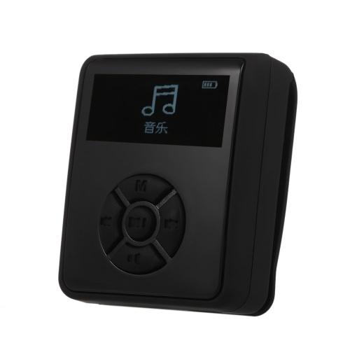 IPX7 Wasserdichter MP3-Player 4 GB Musik-Player mit Kopfhörern FM-Radio zum Schwimmen Laufen Tauchen Unterstützung Schrittzähler