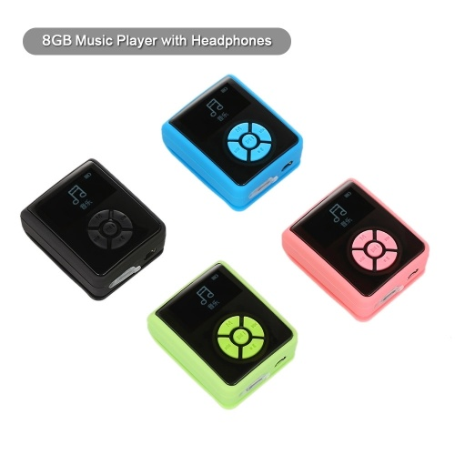 IPX7 Waterproof MP3 Player 8GB Music Player with Headphones FM Radio for Swimming Running Diving Support Pedometer