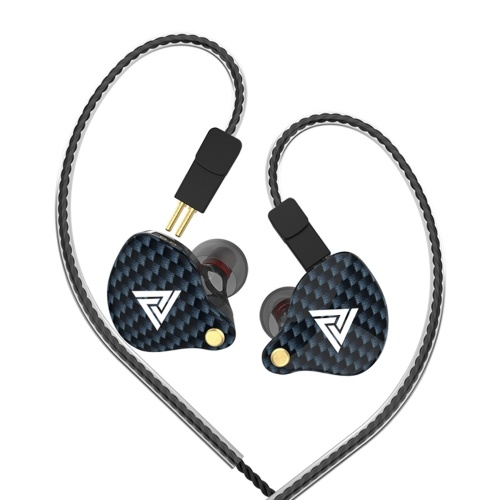 QKZ VK4 3.5mm Wired Headphones In-ear Sports Headset Moving Coil Music Earphones In-line Control with Mic Detachable Replaced Cable