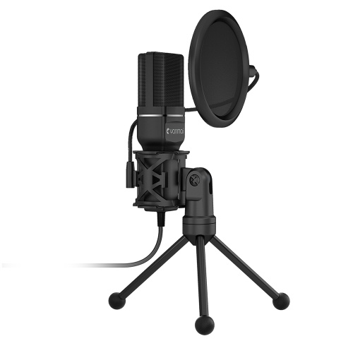 Yanmai SF-777 Desktop USB Microphone Condenser Microphone with Folding Stand Tripod P-o-p Filter for PC Video Recording
