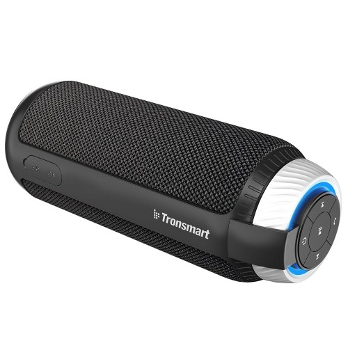 Tronsmart Element T6 Portable Speaker Bluetooth 4.1 IPX6 Water-resistant Superior 360° TWS Stereo Sound Hands-free Calling 25W Dual-driver Wireless Speaker with Deep Bass for Home Outdoors