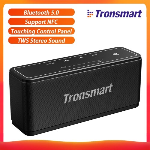 Tronsmart Element Mega Bluetooth 5.0 Portable Speaker 40W Touching Control Panel Soundbar TWS Stereo Sound Wireless Speaker Support NFC and SD-Memory Card & Voice Assistance