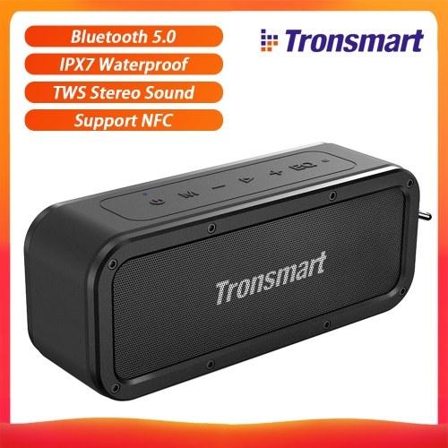 Altoparlante portatile Tronsmart Element Force Bluetooth 5.0 40W IPX7 Impermeabile TWS Altoparlante wireless stereo Altoparlante wireless 15H Supporto Playtime NFC / Assistente vocale / Scheda TF