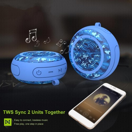 5W Wireless Bluetooth Outdoor Speaker IPX7 Waterproof Speakers TWS Stereo Bass Portable Sound Box Support TF Card