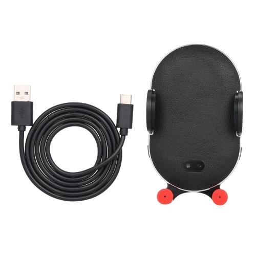 Ци Беспроводное зарядное устройство Автоматический зажим автомобильный телефон Держатель Быстрая беспроводная зарядка Pad для iPhone X XR 8 Huawei Samsung Смартфон
