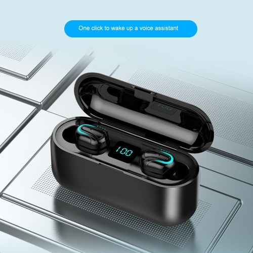 Q32-1 TWS 5.0 Stereo Wirelessly Earphone Waterproof Mini BT Earphones with Dual Microphone for Smartphone