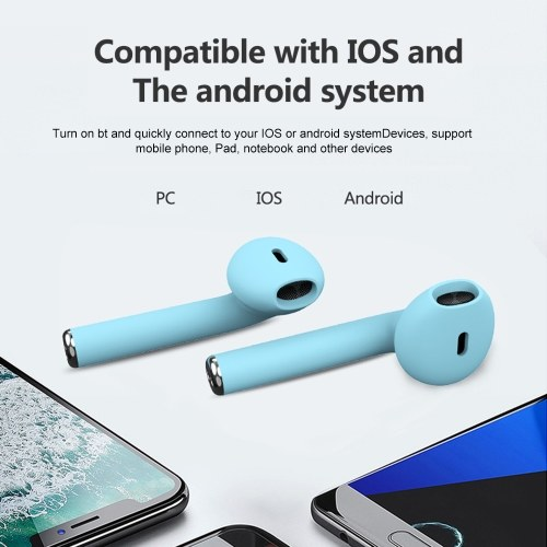 Inpods 12 TWS Stereo Wireless Headphones HD Mini Smart Bluetooth 5.0+EDR In-Ear Headset with Mic Pick Up Automatic Pairing Handsfree Earbuds for iOS Android
