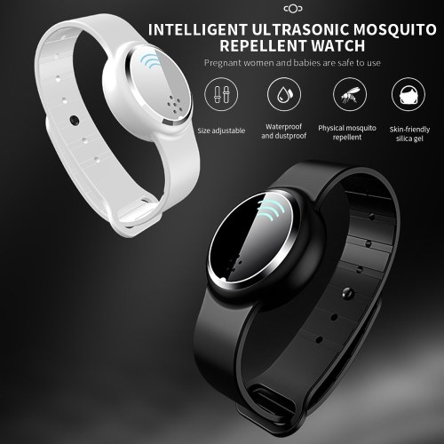 Ultrasound Mosquito Repellent Bracelet Indoor Outdoor Anti Mosquito Pest Insect Bugs Wristband For Kids Adult