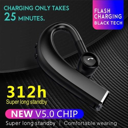 F680 Wire-less BT Earphones Sports Headphones Circumferential Ear Hanging Design 180 Degree Rotary Flash-Charging 312 Hours Super-Long Standby Time Compatible with Android / iOS