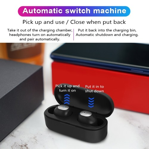 TWS Q2 Stereo Wireless Headphones Mini Smart Bluetooth 5.0 In-Ear Headset