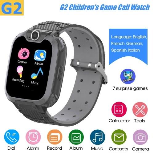 G2 Интеллектуальные детские часы Детские умные часы Встроенные 7 детских игр-головоломок Телефонные часы Встроенные 5 языков (английский / французский / немецкий / испанский / итальянский)