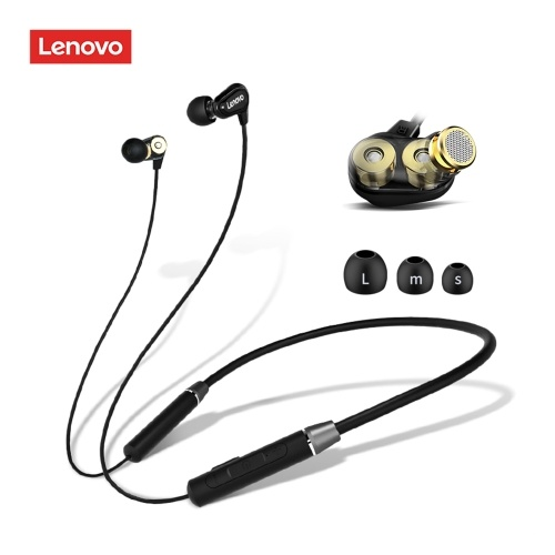 Lenovo HE08 Wireless Headphones Mini Smart Bluetooth 5.0 In-Ear Music Headset with Mic Neck Hanging Handsfree Earbuds