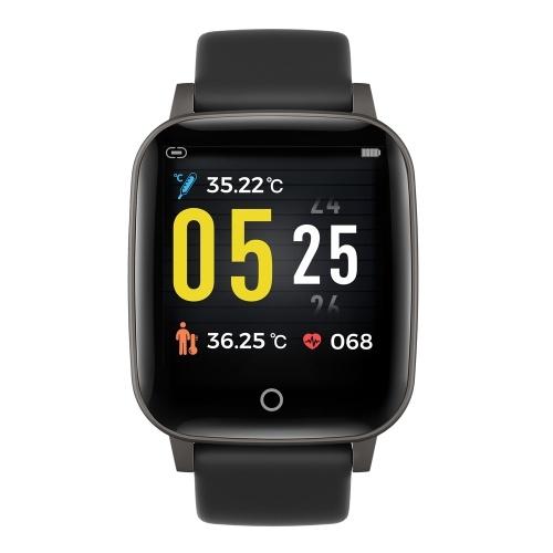 T1S Relógio de Fitness 1.3in Tela Colorida Esporte Inteligente Rastreador de Fitness IP67 À Prova D 'Água Freqüência Cardíaca Monitoramento da Temperatura da Qualidade do Sono Relógio de Pulso