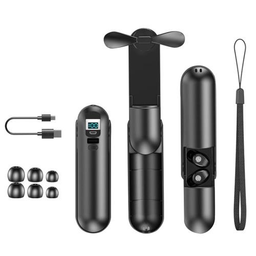 F7 BT5.0 Kopfhörer True Wirelessly Stereo Headset Sport In-Ear Kopfhörer Mini Fan