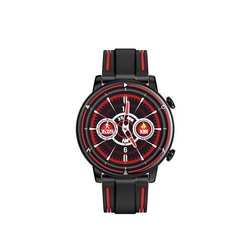 Smart Watch mit rundem Touchscreen Silikonarmbänder Fitness Tracker Activity Tracker Smart Bracelet Unterstützt Herzfrequenz Blutdruck Schlafüberwachung IP68 Wasserdichte Sportuhr für Frauen und Männer