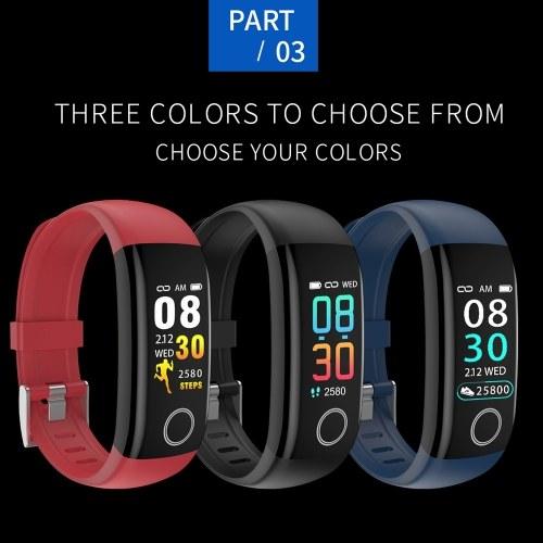Image of T10 Intelligentes Armband Farbbildschirm Körpertemperaturmonitor IP67 Wasserdichtes Sport Tracker Fitness Armband (Schwarz)