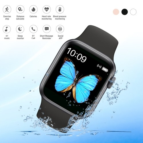 T500 Series 5 Intelligent Watch Color Screen Message Reminder Health Monitor IP67 Waterproof Sport Tracker (Black)