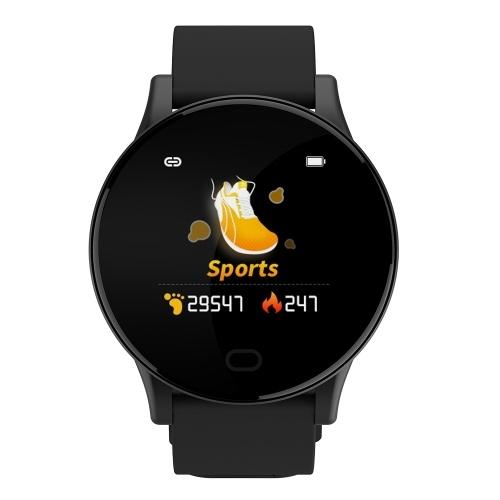 GT3 Intelligent Bracelet Message Reminder Body Temperature Health Monitoring IP67 Waterproof Sport Tracker (Black)