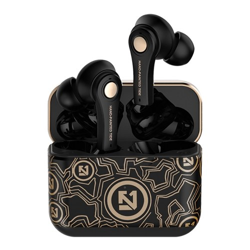 TS-100 BT5.0 Wireless Earphones Auto Pairing Button Control Noise Reduction HiFi Sound Quality for Sports