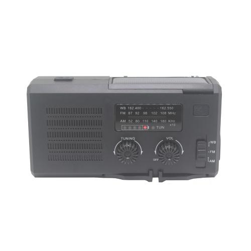 Tragbares Handkurbelradio Multifunktionaler Außenlautsprecher mit LED-Licht SOS-Licht und AM FM
