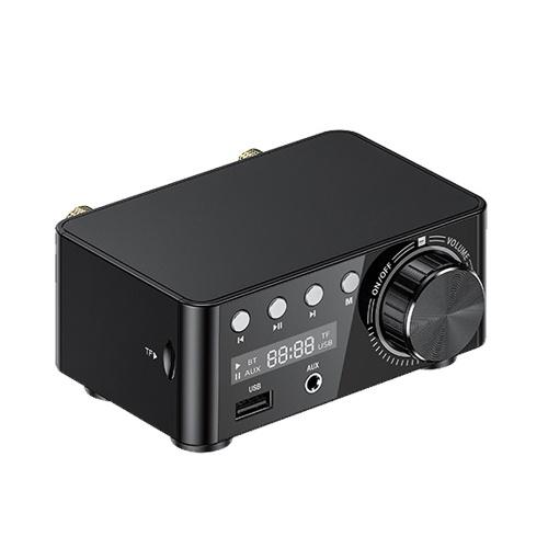 Multifunctional BT Digital Mini Audio Power Amplifier Portable Sound Amplifier Speaker Amp for Car and Home V8196B