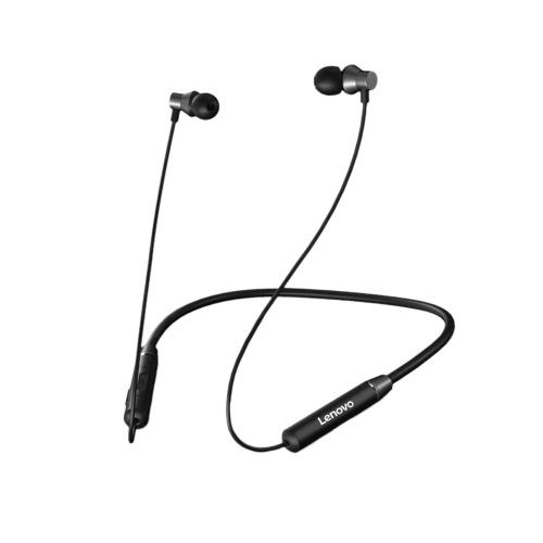 Наушники Lenovo HE05 Bluetooth5.0 Беспроводная гарнитура Наушники с магнитным шейным ободом IPX5 Водонепроницаемые спортивные наушники с микрофоном с шумоподавлением