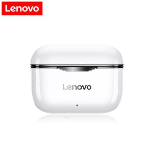 Lenovo LP1TWSイヤフォンBluetooth5.0TrueワイヤレスヘッドホンタッチコントロールスポーツヘッドセットIPX4マイク付き防汗インイヤーイヤフォン300mAh充電ケース