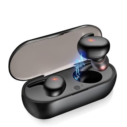 Y30 BT5.0 True Wireless Headphones Mini TWS Earbuds Sweatproof Sport Headset In-ear Earphone with Mic Charging Case Touch Control
