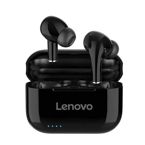Fone de ouvido Lenovo LP1S TWS Fone de ouvido sem fio verdadeiro Bluetooth 5.0 Touch Control Fone de ouvido esportivo IPX4 à prova de suor com capa de carregamento de 250 mAh