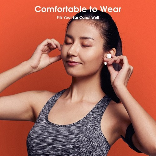 Lenovo XT90 TWS Ohrhörer Bluetooth 5.0 True Wireless-Kopfhörer Touch Control Schweißfester Sport-Headset In-Ear-Kopfhörer mit 300-mAh-Ladekoffer für Mikrofone