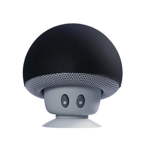 Mini BT Mushroom Speaker Subwoofer portatile wireless con microfono e ventosa per pad/smartphone